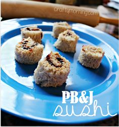 Peanut Butter and Jelly Sushi Snack for Kids #PB&J #Breakfast Idea   CraftyMorning.com