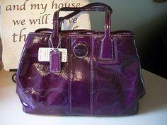 Coach purple handbag