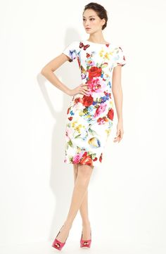 Free shipping and returns on Dolce&Gabbana Print Stretch Cotton Dress at Nordstrom.com. An elegantly tailored stretch-cotton dress is covered with a vivacious print.