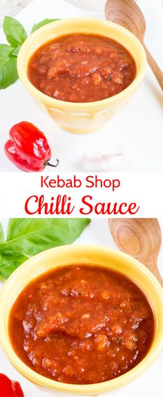 Kebab Shop Chilli Sauce / Hot Chilli Sauce (Vegan, Whole Kebab shop chilli sauce – takeaway style, authentic, no cook and as hot as you like. Chili Sauce Recipe, Spicy Sauce, Sauce Recipes, Cooking Recipes, Doner Kebab Sauce Recipe, Hot Sauce, Marinade Sauce, Dip Recipes, Delicious Recipes
