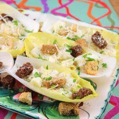 Sue's Caesar Salad Boats