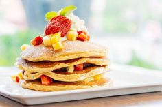 How to Substitute Milk in Your Pancake Recipes Recipe MyGreatRecipes Dairy Free Pancakes, Savory Pancakes, Pancake Recipe Ingredients, Pancake Recipes, Chocolate Pancakes, Natural Yogurt, Food And Drink, Yummy Food, Healthy Recipes