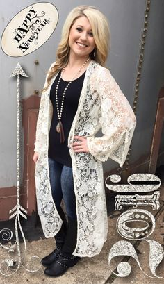 The Bling Box - Cream Lace Duster, $39.99 (http://www.theblingboxonline.com/products.php?product=Cream-Lace-Duster/)