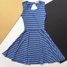 MEEMOZA - BEGIN AGAIN - BLEU RAYÉ Begin Again, Dresses, Fashion, Dress, Starting Over, Gowns, Moda, La Mode, Fasion