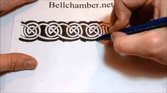 How to Draw Celtic Patterns 138 - Meigle Spiral interlace Part 6 of 6 Calligraphy Markers, Celtic Patterns, Artsy Fartsy, Zentangle, Spiral, Doodles, Carving, Celtic Knots, Drawings