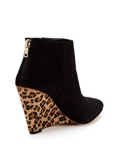 Arrow Pointed-Toe Wedge Bootie by Ava & Aiden at Gilt
