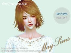 Mayims: Sims 4 Hair - May_TS4_Hair64F