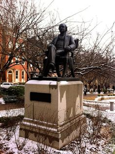 Statue of George Peabody in Mt. Vernon Place Baltimore MD