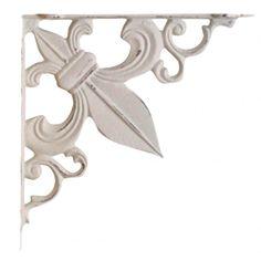 wspornik ozdobny  #metal #bracket #lily #vintage #shelf