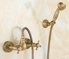 73.06$  Buy here - http://alissx.worldwells.pw/go.php?t=32462261430 - Antique Bathroom Shower Faucet with Hand Shower Head Bathtub faucet Bath and Shower Faucet Banheiro Chuveiro Torneira 73.06$