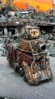 Awesome, Battlewagon, Ork, Conversion, Warhammer 40k, It's beauuuuuuuuuutiful!!