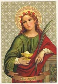 One of the most highly venerated virgin martyrs of Christian antiquity, put to death for her steadfast profession of faith in Catan. Catholic Kids, Catholic Saints, Patron Saints, Catania, Profession Of Faith, Saint Anthony Of Padua, Everyday Prayers, Guardian Angels, Persecution