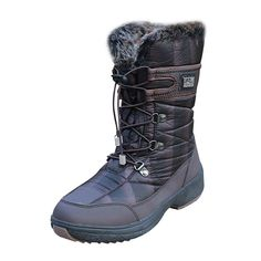 Padgene Women's Waterproof Comfort Round Toe Mid Calf Hiking Outdoor Ankle High Eskimo Winter Fur Snow Boots *** Find out more about the great product at the image link.