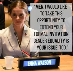 15 Of The Most Empowering Things Emma Watson Has Ever Said. This speech was presented beautifully, another round of applause for this woman please.