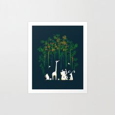 Re-paint the forest by Budi Kwan (via Creattica)