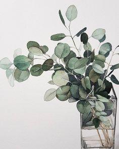 Time lapse video of me painting eucalyptus & leaves Watercolor Plants, Watercolor Leaves, Watercolor Drawing, Watercolor Flowers, Painting & Drawing, Watercolor Paintings, Green Watercolor, Drawing Flowers, Painting Flowers