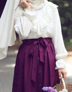 Bright purple & white