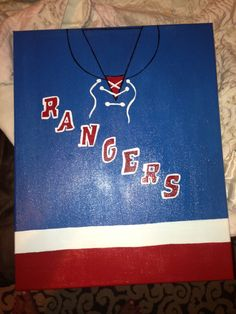 New York Rangers hockey jersey canvas made for my best friend❤