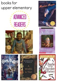 Check out this list of books for advanced readers in upper-elementary grades. Click for details in our #RaiseaReader blog. #KidsBooks