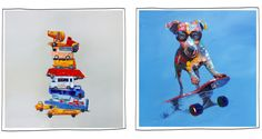 Mocka painted wall art for kids rooms