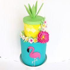Flamingo cake created in November 2015. Created by Just call me Martha