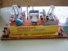 its a chocolate cake , covered with fondant & the equipment is of gumpaste