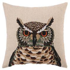 Hermes Owl Pillow