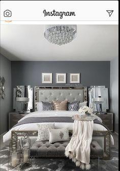 Glam Bedroom, Stylish Bedroom, Home Decor Bedroom, Living Room Decor, Bedroom Ideas, Master Bedroom, Bedroom Designs, Magical Bedroom, Teen Bedroom