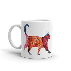 Wild Cat Silhouette Mug