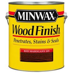 Minwax 1-gal. Oil-Based Red Mahogany Wood Finish Interior Stain-71007 at The Home Depot