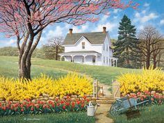 Spring Ahead by John Sloane ~ country spring landscape