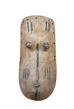 Makonde, Tanzania, Mozambique: A female body mask, called 'Ndimu'.