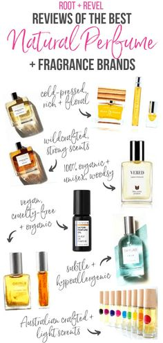 Did you know most conventional perfumes and fragrances are toxic and can trigger allergies? In this post we review seven non-toxic, natural perfume brands for women, plus we share how to get samples and where to shop!#perfume #fragrance #naturalliving