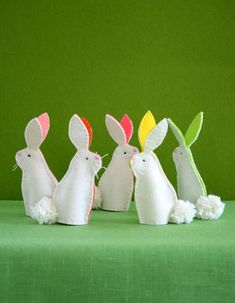 Besides being adorable, these little puppets are a snap to make. You could make the whole set of five (or more) in one evening with time to spare. I think little handmade touches like these really make something like an Easter basket all the more special. --Molly