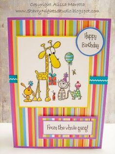 lots of free digi stamps/ideas and lots more...Starry Nights Studio: Happy Birthday From the Gang Greeting Card