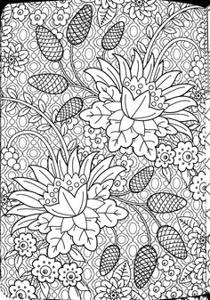 """Scanned coloring page from """"Relaxation Coloring Book""""."""