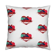Catalan Throw Pillow featuring Explosion of love (2) by chausse_shop | Roostery Home Decor
