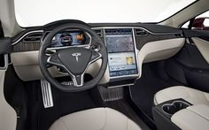 Tesla S inside. Is that a full touch panel? FINALLY!!!!