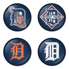 "Detroit Tigers MLB 1.75"" Badges Pinbacks, Mirror, Magnet, Bottle Opener Keychain http://www.amazon.com/gp/product/B00K4521P8"