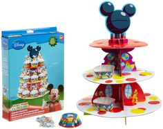 Amazon.com: Wilton Mickey Mouse Clubhouse Cupcake Stand Kit: Kitchen & Dining