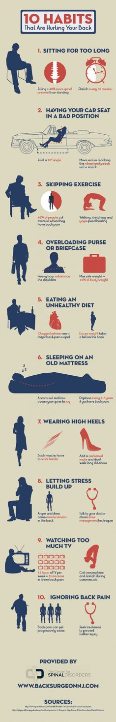 Ouch! 10 habits that are hurting your back [infographic]