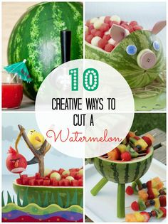 10 Creative Ways to Cut a Watermelon