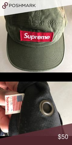 9c3a7cc2741 Supreme olive camp cap Great condition Supreme Accessories Hats Supreme  Accessories