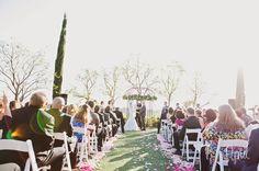 ceremony at Falkner Winery in the garden