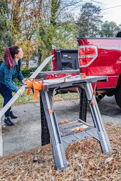 WORX Pegasus Multi-Function Work Table and Sawhorse with Quick Clamps and Holding Pegs - Holds up to 300 lbs. as a work table, supports 1,000 lbs. as a sawhorse. Super light and sturdy and perfect for work sites where you need flexibility! (sponsor) #worktable #garageorganization #worktable #sawhorse Work Site, Garage Organization, Get The Job, Diy Tools, Pegasus, Home Renovation, Woodworking Tools, Flexibility, Diy Projects