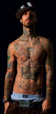 Travis Barker. I like your tattoos.