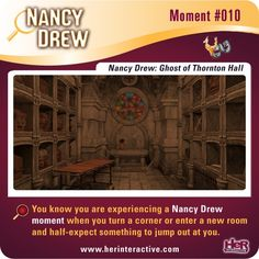 Nancy Drew moment #010 from Ghost of Thornton Hall.