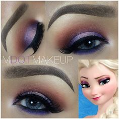 "Elsa ""Coronation Day"" and ""Let it go"" Make-up By Unknown Love Makeup, Makeup Art, Makeup Tips, Beauty Makeup, Hair Makeup, Makeup Tutorials, Makeup Ideas, Hair Beauty, Frozen Makeup"