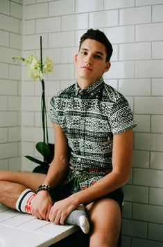 stand out from the crowd and opt for a pattern short-sleeve button-down shirt -- menswear summer style