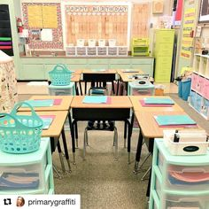 See this Instagram photo by @elementaryshenanigans • desk configuration